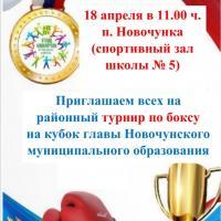 Районный турнир по боксу на кубок главы Новочунского МО